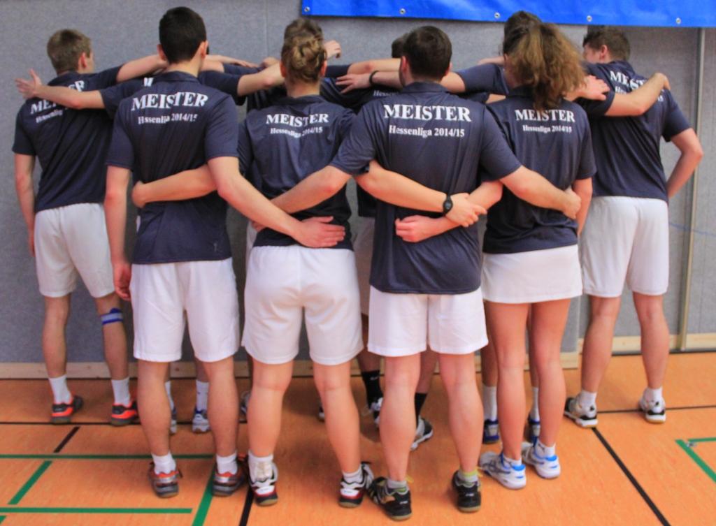 Team mit Meisteraufschrift